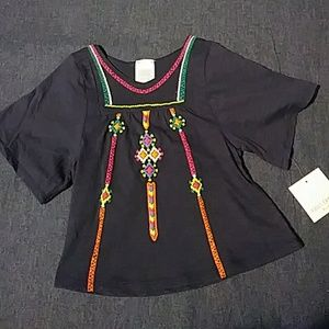 """""""Embroidered"""" tunic NWT"""